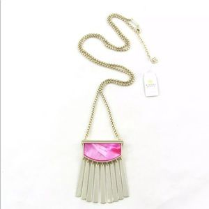 🆕Kendra Scott ELLEN gold and pink necklace